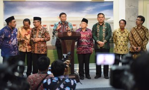 The Speaker as well as Chairmans of Organs of Regional Representatives Council at the Merdeka Palace, Jakarta, on Friday (16/12) afternoon (Picture: Public Relations Office/Jay)