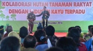 Photo caption: President Jokowi talks to a local resident of Pulang Pisau Regency,Central Kalimantan, on Tuesday (20/12)