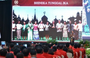 President Joko Widodo delivers a remarks at the 18th Anniversary of PKPI at Garden Ballroom, the Dharmawangsa Hotel, Jakarta on Sunday (15/1) (Picture: PR/Jay)