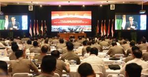Presiden Jokowi memberikan pengarahan pada Rapim Polri, di PTIK Polri, Jakarta, Rabu (25/1) pagi. (Foto: Humas/Rahmat)