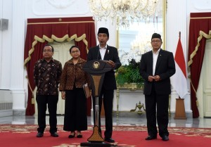 President Jokowi gives a press conference at the Merdeka Palace, Wednesday (11/1) (Photo by: Public Relations Division/Jay)