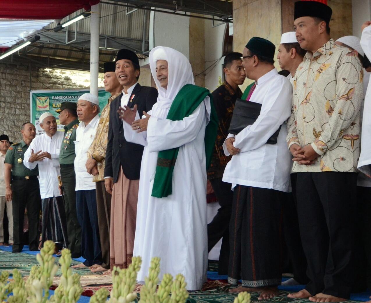 Image result for jokowi maulid habib luthfi