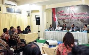 Seskab Pramono Anung saat menjadi Pembicara Kunci dalam diskusi Kerukunan Nasional & Tantangan Bangsa, di Jakarta. (Foto: Humas/Jay)