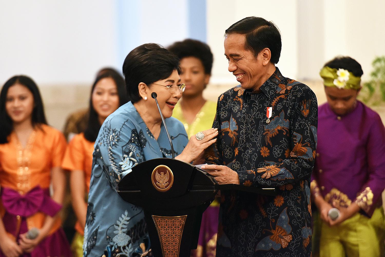 Presiden Jokowi pada Pembukaan Munas VII Persatuan Artis Penyanyi, PAPPRI, dan Peringatan Hari Musik Nasional Tahun 2017, di Istana Negara, Jakarta, Kamis (9/3) siang. (Foto: Humas/Agung)