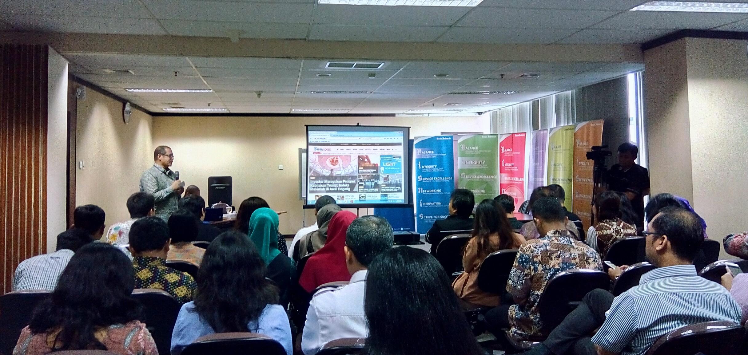 Suasana Workshop Pengelolaan Media dan Promosi Kerja Sama Selatan-Selatan (KSS) Indonesia, di The Hotel Akmani, Jakarta, 21-22 Maret 2017. (Foto: Deny S/Humas)