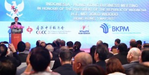 President Jokowi attends a business forum in Hong Kong, Senin (1/5) (Photo: BPMI)