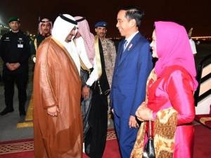 Presiden saat tiba di Riyadh, Arab Saudi. (Foto: BPMI
