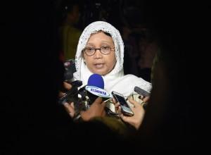 Menlu usai Sidang Kabinet Paripurna menjawab pertanyaan wartawan di Istana Kepresidenan Bogor, Jawa Barat, Senin (29/5). (Foto: Humas/Rahmat)
