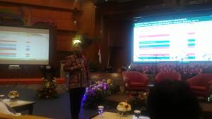 Menteri Pariwisata, Arief Yahya memberikan paparan saat menjadi Keynote Speaker pada acara Forum Tematik Bakohumas di Balairung Soesilo Soedarman, Gedung Sapta Pesona, Jakarta, Rabu (10/5). (Foto: Humas/Edi)