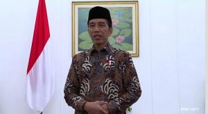 Presiden Jokowi saat menyampaikan ucapan selamat berpuasa, Jumat (26/5).
