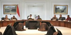 Presiden Jokowi pimpin Rapat Terbatas di Kantor Presiden, Jakarta, Rabu (14/6) sore. (Foto: Humas/Deni)