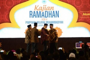 President Jokowi along with PW Muhammadiyah of East Java attends Kajian Ramadan 1438H in Malang, East Java, Saturday (3/6). (Photo: PR/Deni)
