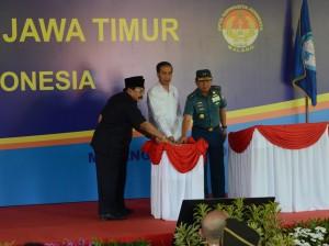 Presiden Jokowi saat meresmikan SMA Negeri Taruna Nala, di Kecamatan Kedungkandang, Kota Malang, Jawa Timur, Sabtu (3/6). (Foto: Humas/Anggun)