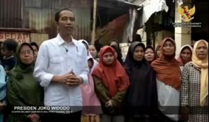 Presiden Jokowi menyampaikan ucapan selamat Idulfitri 1438 H yang diunggah dalam akun instagram @Sekretariat.Kabinet