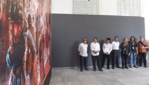 Mendikbud, Menpar, Kasetpres usai melakukan konferensi pers bersama di Galeri Nasional, Senin (31/7). (Foto: BPMI)