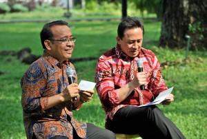 Kepala Bekraf juga menyampaikan rangkaian acara dalam rangka Bulan Kemerdekaan. (Foto: Humas/Jay)
