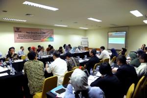 Suasana pertemuan FGD yang dilaksanakan Kedeputian Bidang Perekonomian Sekretariat Kabinet di Hotel Alila, Pecenongan, Jakarta Pusat, Kamis (27/7). (Foto: Humas/Oji)