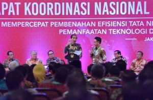 Presiden Jokowi pada Pembukaan Rakornas Pengendalian Inflasi Tahun 2017, di Hotel Grand Sahid Jaya, Jakarta Pusat, Kamis (27/7). (Foto: Humas/Jay)