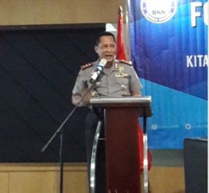 BNN Chief Budi Waseso delivers his remarks (Photo by: Rahmi/Public Relations Division)