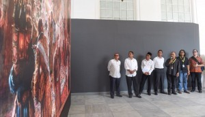 Minister of Education and Culture, Head of Creative Economy Agency, and Head of Secretariat of the President after a joint press conference at National Gallery, Monday (31/7) (Photo: BPMI)