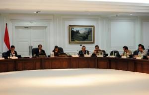 Suasana Sidang Kabinet di Kantor Presiden, Jakarta (Foto: Dokumentasi Humas Setkab)