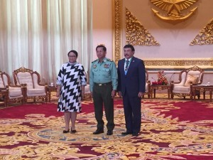 Indonesian Foreign Affairs Minister Retno Marsudi meets Commander-in-Chief of the Myanmar Armed Forces Senior General Min Aung Hlaing on Monday (4/9)