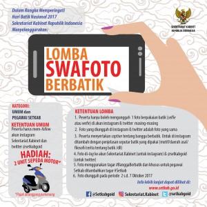 Pengumuman Lomba Swafoto Setkab