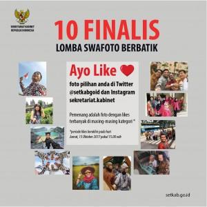 10 finalis lomba Swafoto #BanggaBerbatik Sekretariat Kabinet