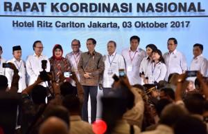 Presiden Jokowi menghadiri acara KADIN, Selasa (3/10)  (foto: Humas/Jay)