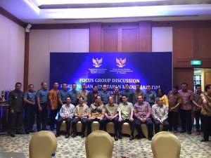 Acara Bimtek Negosiator Batas Maritim yang dikemas dalam bentuk FGD, di Hotel Hyatt Regency, Yogyakarta, 19-20 Oktober. (Foto: Eddy Soetjipto)