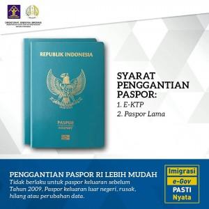 Syarat pergantian paspor
