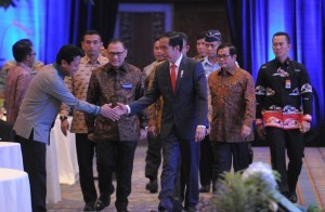 President Jokowi attends the 2017 Annual Meeting of Bank Indonesia, at the Assembly Hall 1 dan 2 Jakarta Convention Center (JCC), Jakarta, on Tuesday (28/11)