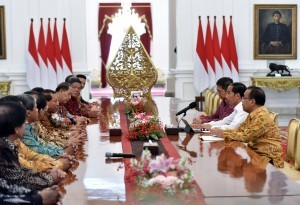 President Jokowi receives the Central Committee of the Indonesian Pentecostal Church (PGPI) on Friday (3/11), at the Merdeka Palace, Jakarta