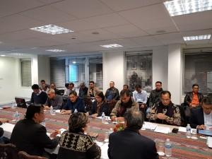 Waseskab Ratih Nurdiati mengikuti rapat persiapan Sidang Umum IMO yang dipimpin Menhub Budi K. Sumadi, di KBRI Londong, Inggris, Minggu (26/11). (Foto: Khairul/Setkab)