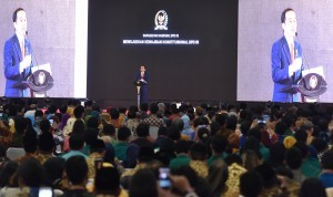 President Jokowi delivers his directives at National Meeting of Indonesian Regional Representative Council, Jakarta, Friday (17/11)