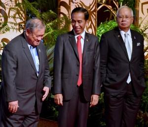 Presiden Jokowi saat menghadiri forum RCEP di Manila, Filipina, Selasa (14/11).