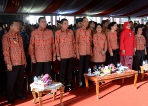 President Jokowi attends the 2017 National Christmas Celebration at Rumah Radakng, Pontianak, West Kalimantan Province, on Thursday (28/12)