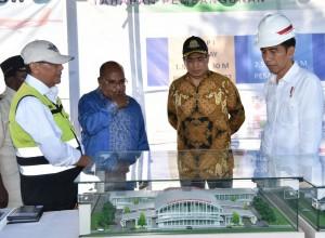 Presiden Jokowi kunjungan ke Kabupaten Nabire, Rabu (20/12), untuk meninjau lahan baru Bandar Udara Douw Aturure. (Foto: BPMI)
