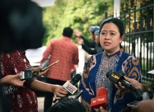 Menko PMK, Puan Maharani diwawancara usai ikuti Rapat Terbatas di Istana Kepresidenan Bogor, Selasa (5/12) (Foto: Humas/Agung)
