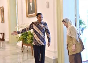 Presiden Jokowi saat menerima kunjungan First Lady Afghanistan di Istana Kepresidenan Bogor, Jawa Barat, Selasa (5/12). (Foto: Humas/Agung)