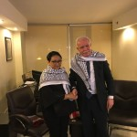 Menlu Retno Marsudi bertemu dengan Menlu Palestina Riad Malki, di Amman, Yordania, Senin (11/12) malam pukul 21.15 waktu setempat atau sekitar pukul 02.15 WIB.  (Foto: Kemlu RI)