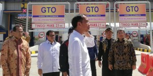 Presiden Jokowi meresmikan tol Soreang - Pasir Koja (Soroja) Bandung, beberapa waktu lalu