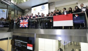 The issuance of Komodo Bonds, Indonesia first global Rupiah bonds on the London Stock Exchange, on Wednesday (13/12)
