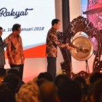 President Jokowi attends the 2018 National Working Meeting of the Ministry of Agrarian and Spatial Planning at Puri Agung Convention Hall, Sahid Jaya Hotel, Jakarta, on Wednesday (10/1)