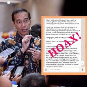 Infographic of a hoax news about President Jokowi