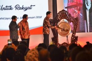 Presiden saat menghadiri Rakernas Kementerian Agraria dan Tata Ruang/Badan Pertanahan Nasional Tahun 2018, di Puri Agung Convention Hall, Hotel Sahid Jaya, Jakarta pada Rabu (10/1) sore. (Foto: Humas/Deni)