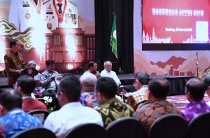 Presiden Jokowi saat memberikan sambutan dalam pengarahan kepada peserta Rakernas APPSI di Hotel The Trans Luxury, Kota Bandung, Provinsi Jawa Barat, Kamis (22/2). (Foto: BPMI)