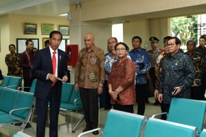 President Jokowi at the Ministry of Foreign Affairs, Jakarta, Monday (12/2). (Photo: PR/Oji)