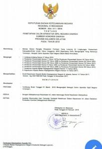 Contoh surat palsu pengangkatan CPNS