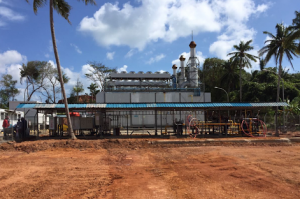 A 9 MW- Gas Engine Power Plant (PLTMG), located in Sasah Seri Bay, Kuala Lobam, Bintan Regency, Riau Islands